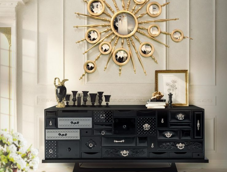 Variations On A Theme: The Mondrian Black Sideboard