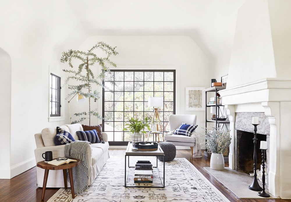Soothing Living Rooms by Emily Henderson Interior Design